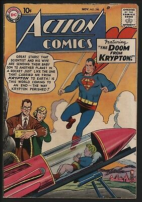 Action Comics #246  Nov 1958 Classic Silver Age Superman. Nice Page Quality