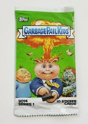 Topps Garbage Pail Kids 2014 Series 1 Factory Sealed Pack 10 Sticker Cards