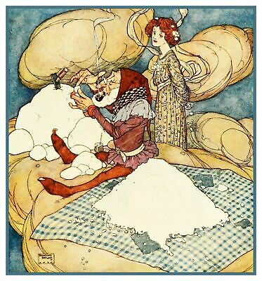 Edmund Dulac Fairies I Have Met Counted Cross Stitch Pattern Chart