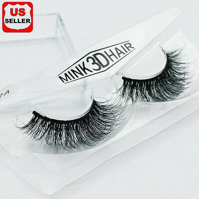 100% Siberian Mink Fur Soft Thick 3D False Eyelashes Natural Long Lashes Handmad