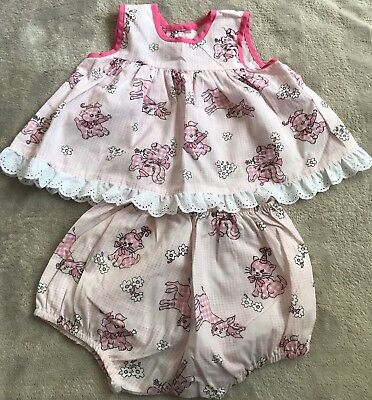 VINTAGE AUSTRALIAN MADE Top & Nappy Cover Set EUC size 0. 10 Items = $5 Post
