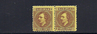 SARAWAK 1871-71a (SG 2 and 2a in a pair) F/VF UNUSED no gum