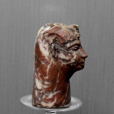 ANCIENT EGYPT ANTIQUE Egyptian Stone of granite figure of king 300-1500 BC )