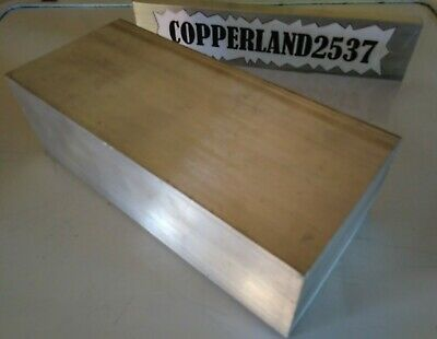 "1pc 2"" X 4"" X 8"" long new 6061 solid aluminum plate flat stock bar mill block"