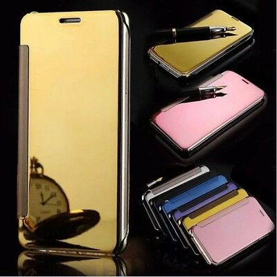Luxury Clear View Mirror Flip Leather Case Cover For Samsung Galaxy S9 J5 A5 C