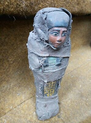 RARE ANCIENT EGYPTIAN ANTIQUE Statue Ushabti Shabti Figure Bc (3)