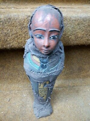 RARE ANCIENT EGYPTIAN ANTIQUE Statue Ushabti Shabti Figure Bc (1)