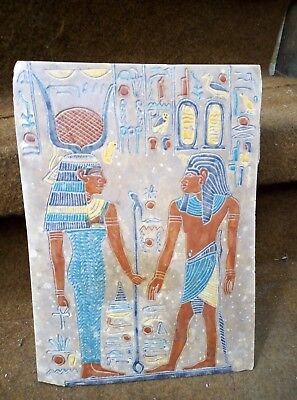 RARE ANTIQUE ANCIENT EGYPTIAN Stone of Ramses Ii & Isis Egypt Statue 1370 Bc