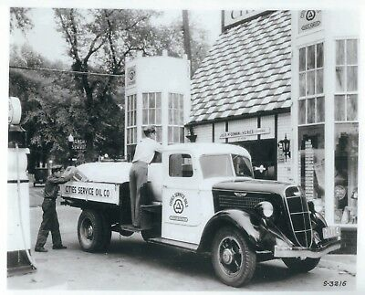 A Photograph of a 1935 Cities Service Oil Co. Studebaker Fuel Delivery Truck
