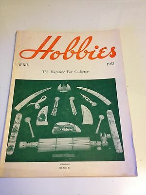 april  1953  HOBBIES collector magazine very good condition
