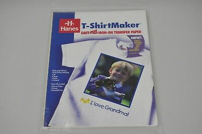 Lot of 20 Hanes Easy Transfer Iron-On Paper Injet 8.5 x 11 heat transfer Sheets