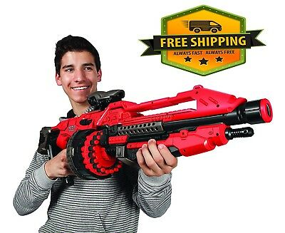 Giant Nerf Gun For Boys Sniper Scope Pistol Shotgun Vortex Blaster Machine Red
