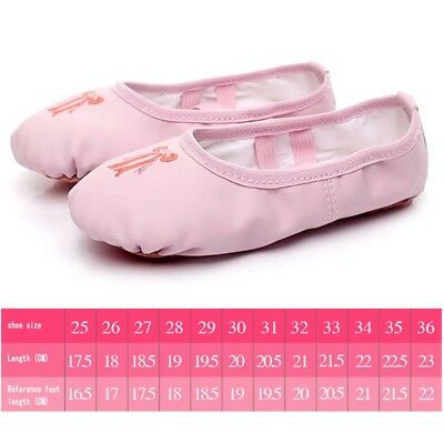 pu Leather Ballet Shoes Slippers Split Sole Flats For Toddler Girl Boy Kid