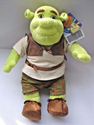 """NEW UNUSED RARE Build A Bear Shrek Third 17"""" Ogre Plush W/full Outfit & all Tags"""