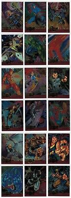 1995 Fleer Marvel Metal Red Blaster Complete 18 Card Insert Chase Set