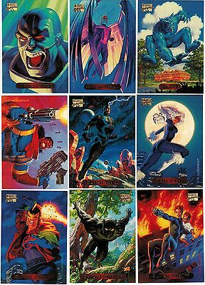 bb97615fa96 1994 MARVEL MASTERPIECES SERIES 3 FLEER SKYBOX COMPLETE CARD SET  1-140 X-