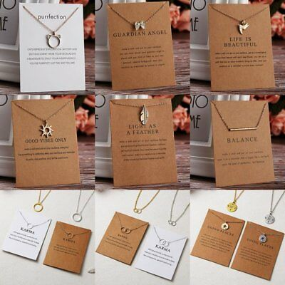 Simple Sun Leaf Wing Charms Pendant Chain Necklace Womens Fashion Jewellery Hot