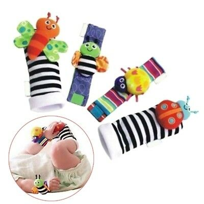 Rattle Set Baby Kids Sensory Toys Foot Socks Wrist Rattles Bracelet NEW
