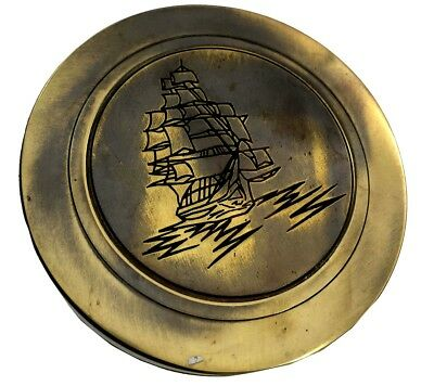 Nautical Vintage Antique Maritime Pocket West London Sundial Compass SC 0105