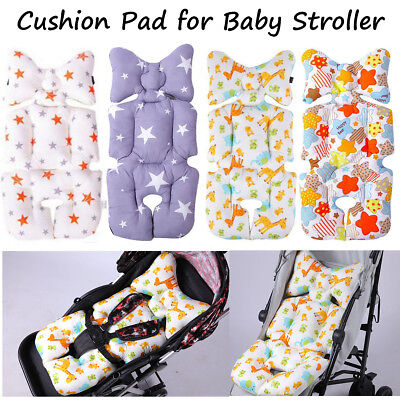Baby Stroller Pushchair Cushion Pram Padding Liner Seat Pad Cover Head Support