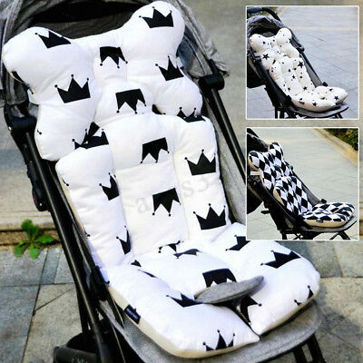 Thicken Cotton Baby Stroller Liner Cover Mat Seat Cushion Head Support Pillow