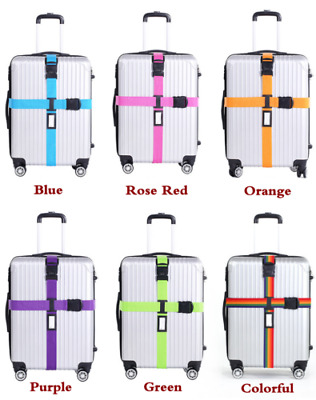 Adjustable Suitcase Luggage Straps Travel Baggage Belt Buckle Tie Down Lock AU
