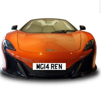 Mclaren Private Plate Cherished P1 540 570 650 720 12C Senna Mg14Rfn