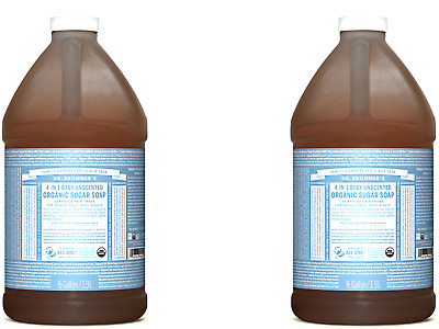 2 x 1.89L DR BRONNERS Organic Pump Soap - Baby Unscented
