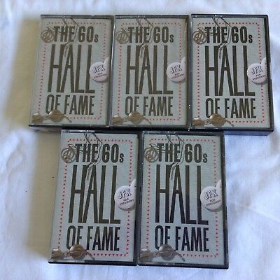 THE 60'S HALL OF FAME CASSETTES Bulk Lot of 5