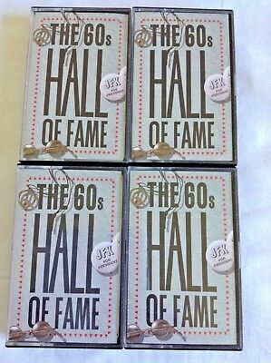 THE 60'S HALL OF FAME CASSETTES Bulk Lot of 4