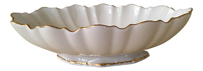 Lenox Symphony Oval Bowl Scalloped Edges 24k Gold Trim New Made In USA Wedding