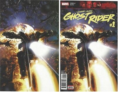 JOHNNY BLAZE GHOST RIDER #1 CLAYTON CRAIN VIRGIN VARIANT and Trade Dress NM