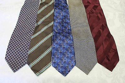 "Lot Of 5 Ties Different Name Width 4"" & Classic Length 57""-60"""
