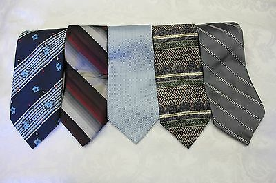 "Lot Of 5 Ties Different Name Traditional Width 4"" & Classic Length 57""-60"""