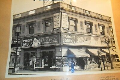 8/10 Black & White Coca Cola Store Front From Salesman Book Pardee Drugs L.a