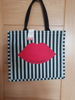 Lulu Guinness For Tesco Large Red Lips Shopping Jute Bag Limited Edition ebd36d36f7