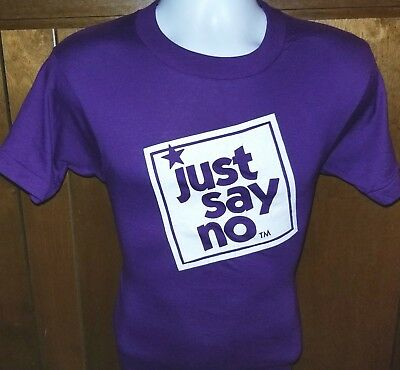 Vtg 80S Nos Just Say No To Drugs T-Shirt Small Screen Stars 50/50