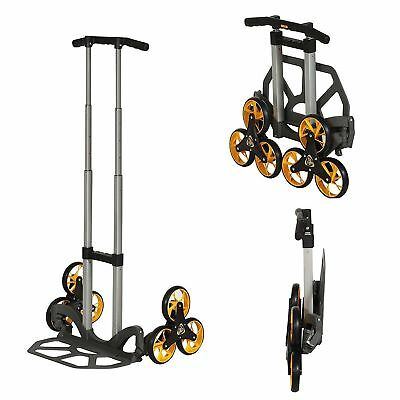 UpCart Lift Trifold All-Terrain Stair Climb Folding Hand Truck Dolly - With Box