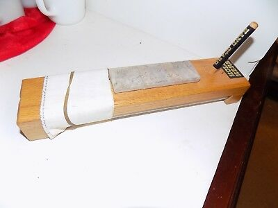 Vintage Crock Stick Knife Sharpener with Instructions