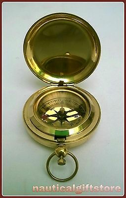 Brass compass push button  pocket compass stylish gift item