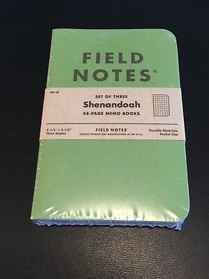 Field Notes Colors Shenandoah (Fall 2015) New Sealed Notebook 3-Pack FN-29