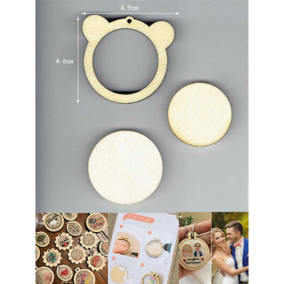 DIY Bear Shape Mini Wooden Cross Stitch Embroidery Hoop Ring Frame Machi FixedCL