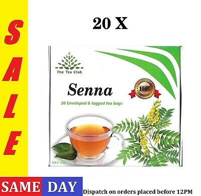 20 X SENNA TEA Natural Detox Product Colon Cleansing Laxative Weight Loss