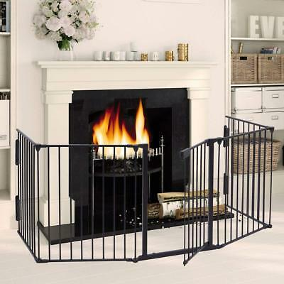 Fireplace Fence Baby Safety Fence Hearth Gate Pet Cat And Dog BBQ Metal Fire