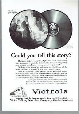 Vintage, Original, 1923 - Victrola and Victor Records Advertisement - Music