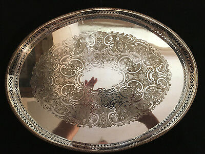 Silver plated tray. Approx. 40X30 cms. Good condition