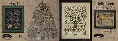 All Through the Night Counted Cross Stitch Patterns YOU CHOOSE Christmas Tree +