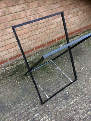 OIL Drum BBQ Hog SMOKER Grill HEAVY Duty STEEL Folding STAND Table Frame (ONLY)