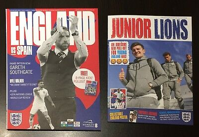 England v Spain UEFA Nations League Programme With Pullout 8th September 2018