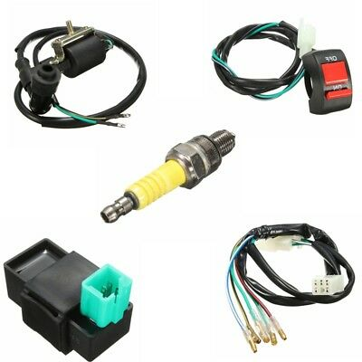 Wiring Loom On Off Switch Coil CDI Spark Plug Kit For 110 125 140cc Pit Bike